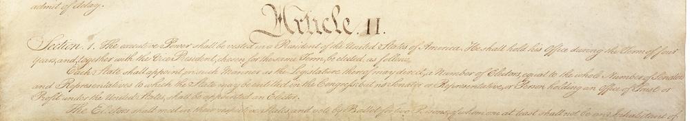 Image of Article II Section 1