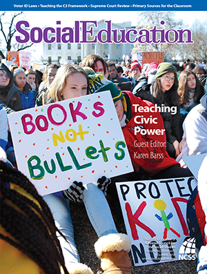 Cover Social Education Oct 2018 showing students protesting